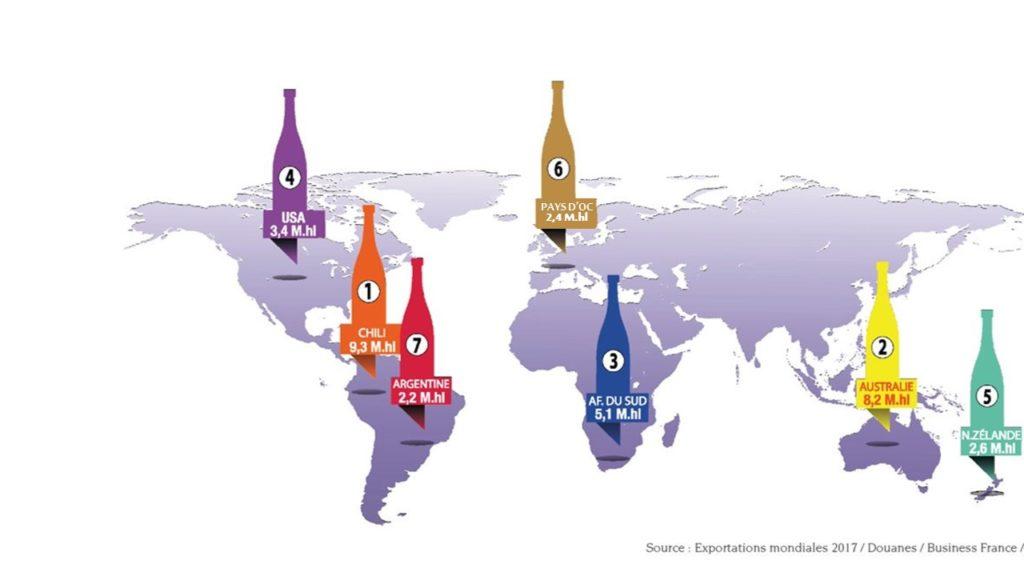 Pays d'Oc IGP - 6eme exportateur de vin de cépage