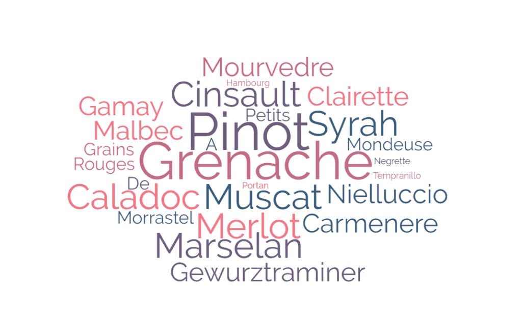 29 cépages rosés Pays d'Oc IGP